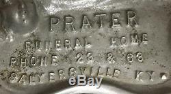 Salyersville Kentucky Prater Funeral Home Antique Old Vintage Rare Original