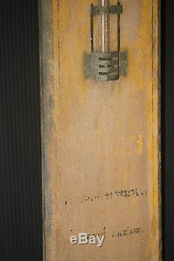 THERMOMETER vintage 70 year old SCIENCE school physics sign wood large antique
