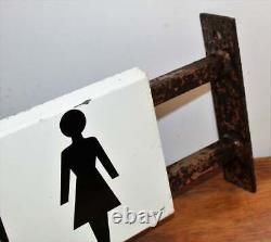 Toilets metal sign railway advertising mancave garage old vintage antique decor