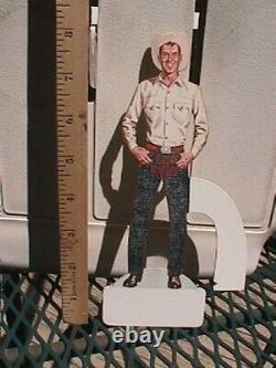 VINTAGE Lee Riders Cowboy jean overalls die cut stand up sign NOS