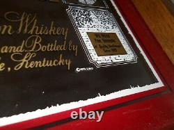 VTG 1970 WL Old Weller Antique Bourbon Ad Mirror Tray Stitzel Pappy Van Winkle
