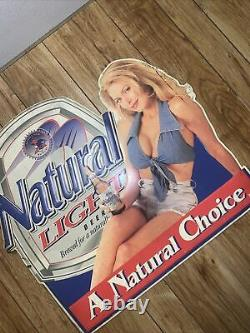 Very Old Antique Natural Light Beer Old Sign a Natural Choice V