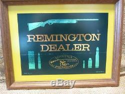 Vintage 1816 1966 Remington Dealer Framed Sticker Antique Old RARE 8881