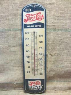 Vintage 1932 Pepsi Thermometer Antique Old Pepsi-Cola Sign Soda NO MERCURY 9889