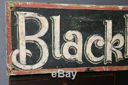 Vintage Blackberries Wood Sign Hand painted Kitchen Grocery Fruit Candy Old farm