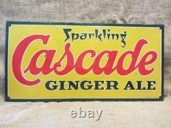 Vintage Cascade Ginger Ale Metal Sign Antique Old Soda Cola Donaldson Co 9882