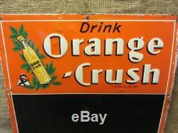 Vintage Embossed 1937 Orange Crush Sign Chalkboard Antique Old Soda Cola 9818