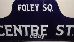 Vintage Foley Square Court NYC Old Street Sign Antique Law Judge Lawyer Attorney