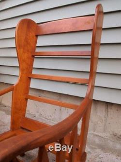 Vintage Heywood Wakefield Old Colony Maple Wing Chair Winthrop Finish Signed
