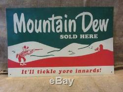 Vintage Mountain Dew Sign Ya-hoo Antique Old Pepsi-Cola Soda Rare 10018