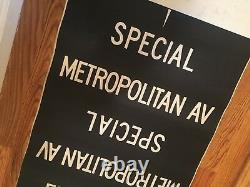 Vintage NYC Subway Train Antique Brooklyn Manhattan Destination Old Roll Sign