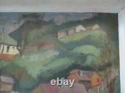 Vintage Painting Impressionism Regionalism Modernism Landscape Old Antique