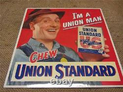 Vintage Union Standard Chewing Tobacco Display Sign Antique Old Chew Signs 9220