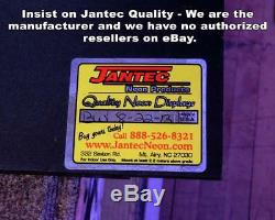 Vintage With Border Neon Sign Jantec 32 W x 13 H Old Antique Classic