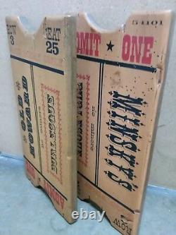 Vintage Wood Minsky's Burlesque and Old Howard Burlesque Advertising Signs