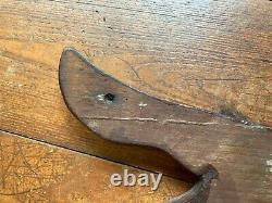 Vintage Wooden Fish TERMS CASH Sign from Old Bait and Tackle Store 29 x 10