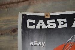 Vintage old antique CASE tractor model LA poster sign