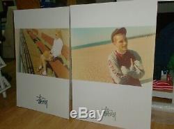 Vintage poster stussy california POP sign tshirt set of 2 big pop 1994 old