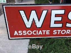 WOW! ORIGINAL VinTaGe WESTERN AUTO STORE Sign HUGE PORCELAIN gas Oil AnTiQuE OLD