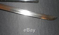WW2 Japanese Army Samurai Sword -WWII IJA Gunto/Combat Cover/Old/Antique-SIGNED