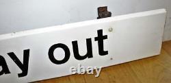 Way Out metal sign railway advertising mancave garage old vintage antique decor