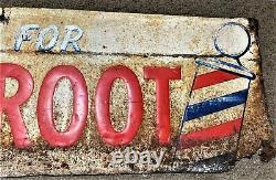 Wild Root Cream Oil Barber Shop Sign Vintage Metal Sign Original and Old